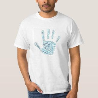 自閉症のhandprintのティー tシャツ