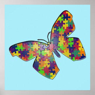 自閉症のPuzzleflyポスター ポスター