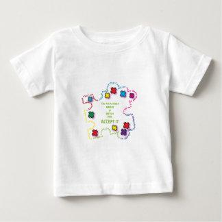 自閉症はそれを!受け入れます!! ベビーTシャツ
