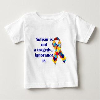 自閉症は悲劇、無知ありますではないです ベビーTシャツ