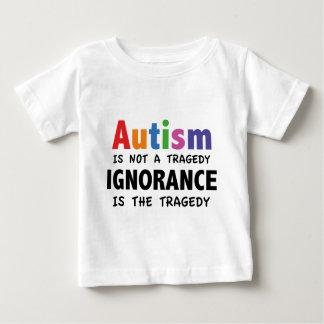 自閉症は悲劇、無知です悲劇ではないです ベビーTシャツ