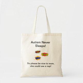 自閉症は決して眠りません トートバッグ