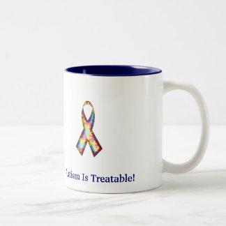 自閉症は治療可能です! ツートーンマグカップ
