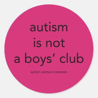 自閉症は男の子のクラブではないです: ステッカー