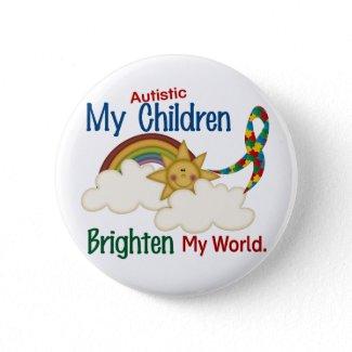自閉症は私の世界1の子供を明るくします ピンバッジ