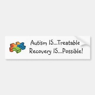 自閉症は…治療可能です! 回復は…可能です! バンパーステッカー