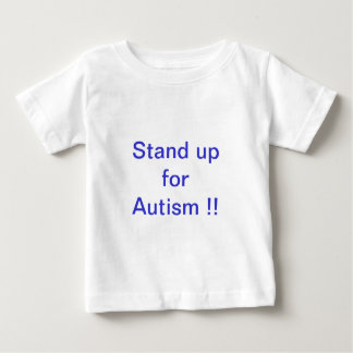 自閉症を擁護して下さい!! ベビーTシャツ