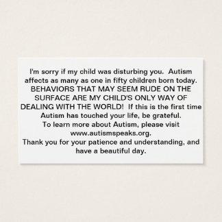 自閉症カード 名刺