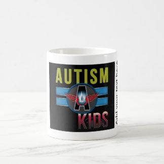 自閉症子供の白325 mlクラシックで白いMug* コーヒーマグカップ