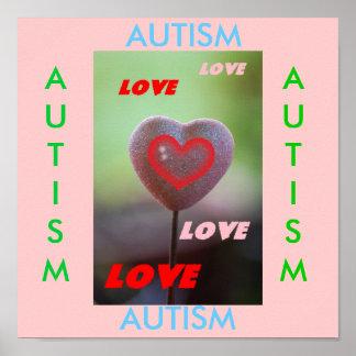 自閉症愛愛愛愛ハートのプリント プリント