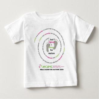自閉症2009年のための今歩行 ベビーTシャツ