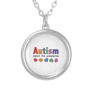 自閉症 シルバープレートネックレス