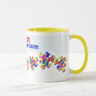 自閉症-原因のマグを支えて下さい マグカップ