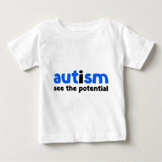 自閉症-潜在性を見て下さい ベビーTシャツ