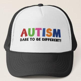自閉症-異なっているがある挑戦 キャップ