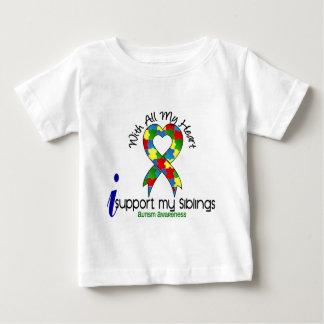 自閉症Iサポート私の兄弟姉妹 ベビーTシャツ