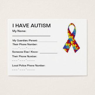 自閉症IDカード 名刺