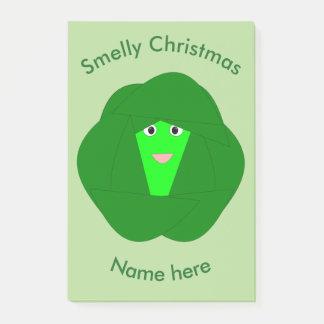 臭いクリスマスの芽キャベツのポスト・イットのパッド ポストイット