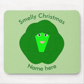 臭いクリスマスの芽キャベツのマウスパッド マウスパッド