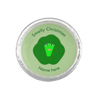 臭いクリスマスの芽キャベツのリング リング