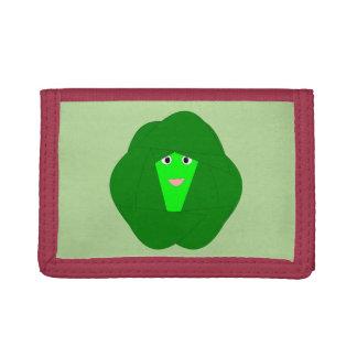 臭いクリスマスの芽キャベツの財布 ナイロン三つ折りウォレット