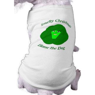 臭いクリスマスの芽キャベツカスタムな犬のワイシャツ ペット服
