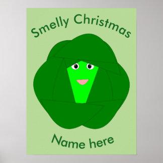 臭いクリスマスの芽キャベツポスター ポスター