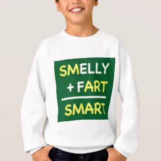 臭い + 屁=頭が切れる スウェットシャツ