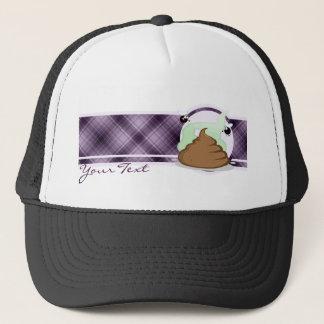 臭いPoo; 紫色 キャップ