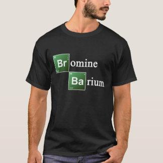 臭素およびバリウムの周期表化学Elemen Tシャツ