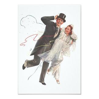 至福の新郎の花嫁RSVPカードを結婚する空白のなヴィンテージ カード
