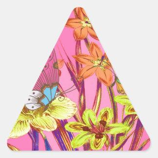 至福-蝶天国 三角形シール