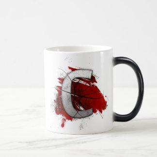 致命的なデザインのモノグラムの手紙C モーフィングマグカップ
