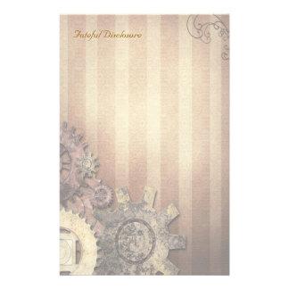 致命的な発表- Steampunkの文房具 便箋
