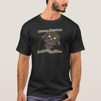 興味のクイル出版物の文学的な略奪者のデザイン Tシャツ