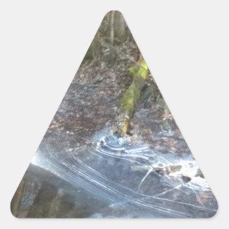 興味深い氷のひび 三角形シール