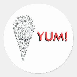 舌を搭載するアイスクリームコーンの小人たち ラウンドシール