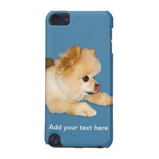 舌を突き出ているポメラニア犬犬 iPod TOUCH 5G ケース