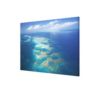 舌礁、グレート・バリア・リーフの海洋公園、 キャンバスプリント