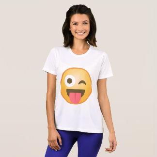舌Emojiのまばたき Tシャツ