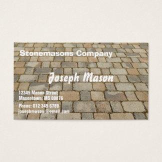 舗装のためのブロック-石工 名刺