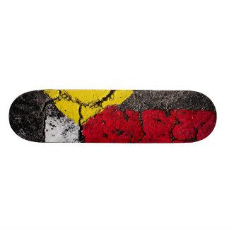 舗装の道のペンキの芸術-カッコいい-おもしろい 21.6CM オールドスクールスケートボードデッキ