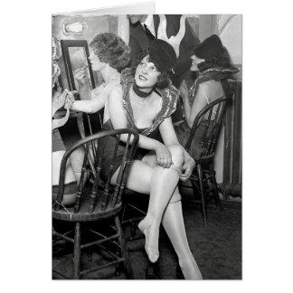 舞台裏でショーガール、1926年 カード