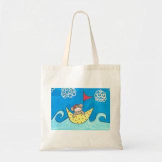 航海しているソックス猿 トートバッグ