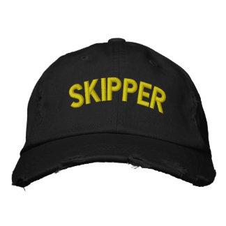 航海するか、またはスポーツチームのための飛ぶ人の文字 刺繍入りキャップ