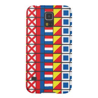 航海するためにWorthy_Signalの旗のpattern_I愛を見て下さい Galaxy S5 ケース