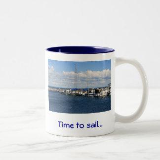 航海する時間… ツートーンマグカップ