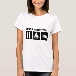 航海する生命の優先順位 Tシャツ