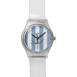 航海のいかりの腕時計によって縞で飾ります 腕時計