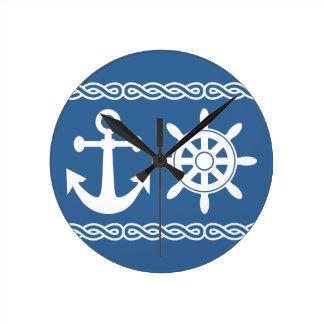 航海のでカスタムな柱時計 ラウンド壁時計